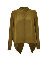 French Connection Brown Super Silk Shirt