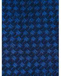 BOSS - Blue Woven Tie for Men - Lyst