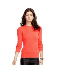 Polo Ralph Lauren - Orange Slim-fit Cabled Cashmere - Lyst