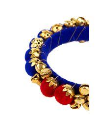 AKIRA - Jingle Bell Bracelet In Blue Red - Lyst