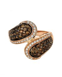 Le Vian | Pink 14kt. Rose Gold Brown And White Diamond Ring | Lyst