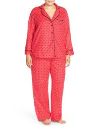 Betsey Johnson | Multicolor Print Flannel Pajamas | Lyst