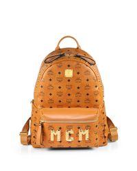 MCM | Brown Visetos Stark Monogram Backpack for Men | Lyst