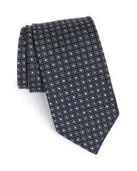 JZ Richards - Black Medallion Silk Tie for Men - Lyst