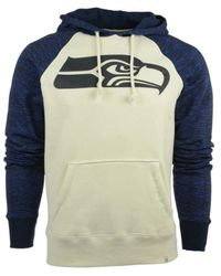 47 Brand Blue Men's Seattle Seahawks Hashmark Hoodie for men