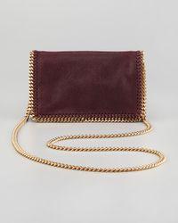 Stella McCartney Purple Falabella Chain Crossbody Bag Plum