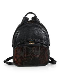 Alexander Wang - Black Dumbo Calf Hair Leather Backpack - Lyst