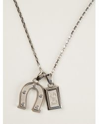Dolce & Gabbana - Metallic Charm Pendant Necklace for Men - Lyst
