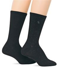Ralph Lauren | Black 2-Pack Supersoft Pindot Trouser Socks | Lyst