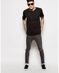 Cheap Monday | Black T-shirt Standard Embroid Logo for Men | Lyst