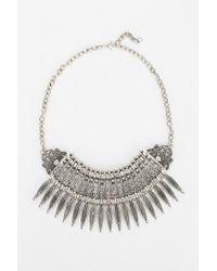 Urban Outfitters - Metallic Mercer Bib Necklace - Lyst