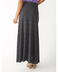 Alternative Apparel | Black Double Dare Eco-jersey Maxi Skirt | Lyst