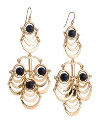 Lele Sadoughi - Blue Sandstone Beaded Orbit Chandelier Earrings - Lyst