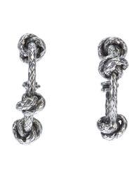 Bottega Veneta | Metallic Knot Pendant Earrings | Lyst