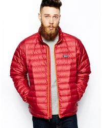 Patagonia - Red Down Sweater Jacket for Men - Lyst