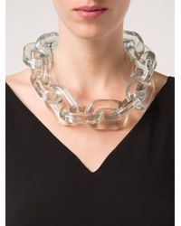Stella McCartney - Multicolor Plexy Chain Necklace - Lyst