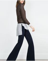 Zara | Brown Open Knit Sweater | Lyst