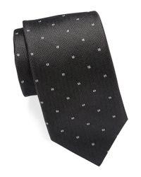 Michael Kors Black Neat Silk Tie for men