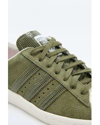 Adidas Originals Green Khaki Suede Superstar Trainers for men