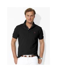 Polo Ralph Lauren | Black Classic-fit Mesh Polo Shirt for Men | Lyst