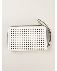 Marc By Marc Jacobs White 'Sophisticato Bow Perf Wingman' Wallet