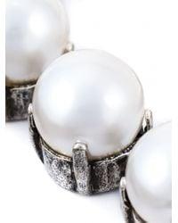 Lanvin | Metallic Kristen Pearl Necklace | Lyst