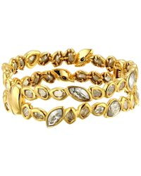 Alexis Bittar | Metallic Antique Set Crystal Stacking Hinge Bracelet | Lyst