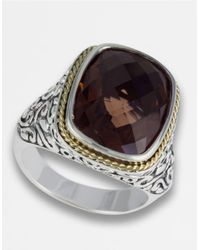 Effy | Brown Balissima Sterling Silver And 18k Yellow Gold Smokey Quartz Ring | Lyst