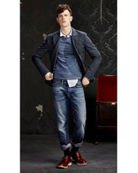BOSS Orange - Blue Slim-fit Casual Shirt 'emistere' In Cotton for Men - Lyst