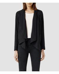 AllSaints - Black Kwar Jacket - Lyst