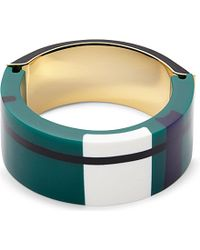 Marni | Black Gold-plated, Resin And Leather Bracelet - For Women | Lyst