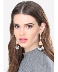 Bebe - Orange Triple Teardrop Earrings - Lyst