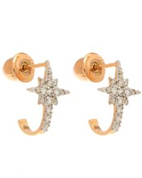 Kismet by Milka - Pink White Diamond K Star Earrings - Lyst