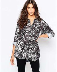 Aka | Black Ka Scenic Print Shirt | Lyst