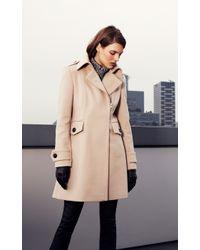 Karen Millen Natural Oversize Military Coat