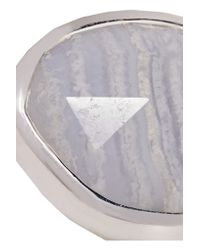 Monica Vinader | Metallic Siren Sterling Silver Agate Ring | Lyst