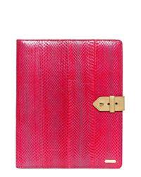 hayden-harnett | Pink 'mission' Genuine Snakeskin Tablet Organizer | Lyst