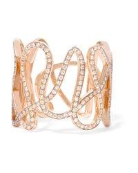 Repossi | Pink White Noise 18-karat Rose Gold Diamond Ring | Lyst