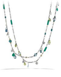 David Yurman Metallic Capri Necklace With 18K Gold