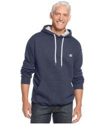 Champion Blue Men's Fleece Pullover Hoodie for men