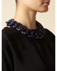 Jaeger | Blue Chunky Chain Necklace | Lyst