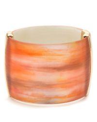 Alexis Bittar | Orange Desert Jasmine Wide Hinged Bracelet | Lyst