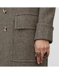 Denim & Supply Ralph Lauren - Gray Long Herringbone Coat - Lyst