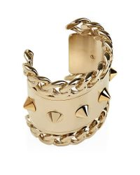 Givenchy | Metallic Stud And Chain Cuff | Lyst