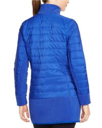 Lauren by Ralph Lauren | Blue Fleece Jacket | Lyst