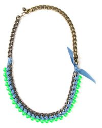 Lanvin - Green '22 Faubourg' Necklace - Lyst