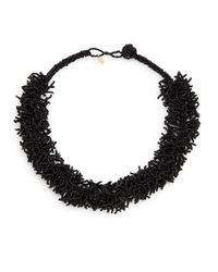 Kenneth Jay Lane | Black Beaded Collar Necklace | Lyst
