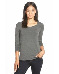 Eileen Fisher Gray 'cozy' Long Jersey Top