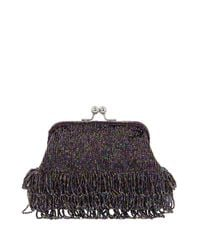 Nina Purple Maridel Beaded Clutch