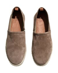 H&M Brown Leather Espadrilles for men